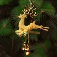 Wholesale HOT for Xmas Deer Reindeer Hanging Decorations Christmas Tree Baubles Home Decoration