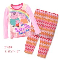 big pig - Big Girls pig Clothing Set Kids Long Sleeve Super Heros Pajamas Sets Childrens Cartoon Night Wear Sleepwear Clothes