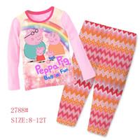 big pajamas - Big Girls pig Clothing Set Kids Long Sleeve Super Heros Pajamas Sets Childrens Cartoon Night Wear Sleepwear Clothes