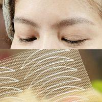 Wholesale 24pcs fashion double eyelid sticker tape lace meshy nets m eye tapes invisible maquiagem EQC729