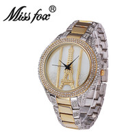 analog watch online - Online Watch High Quality Fashion Diamond Large Dial Ladies Watch Paris Eiffel Tower Designer Watches Bling Rhinestone IPG Gold Platel Pam