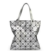 Wholesale 2016 Fashion Rhombus Shoulder Bags Ladies Handbags Bags with Geometric Lattice Folding Women Designers Purse Bags Retro Messenger Handbags