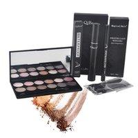 Wholesale Qibest Eyes Makeup Set Mascara Eyeliner Eyeshadow Eyelash Makeup Brush Magical Halo Mascara Waterproof Mascara