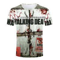 Vente en gros-été La marche Dead respirant T-shirt Homme 3d imprimé Tee-shirt Haute qualité Man t-shirts Vente en gros Crew Neck manches courtes