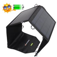 Wholesale Solar Charger panels v14w folder Portable Waterproof Solar charger Mat Charging Power Bank Packet Camping Partner For Cellphone Tablets