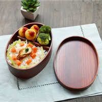 Wholesale MUXING Oval Wood Lunch Box18 CM Brown Sushi Lunch Box Capacity ML Japanese Korean Style Retail MOQ