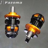 arm visor - PAOZMA Hot CNC mm Gold Swing Arm Spool Slider Bobbin Paddock Stand Mount Adapter For Kawasaki Ninja Z1000 Z800