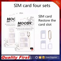 Wholesale Free shop Noosy Nano SIM Card Micro SIM Card to Standard Adapter Adaptor Converter Set for iPhone with Eject Pin Key