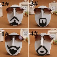 Wholesale Fancy Face Beard Sunglasses Display Stand EVA Glasses Desktop Display Show Stand Holder Eyewear Face Model Optical Shop Decor