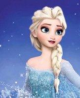 Wholesale hot princess frozen snow queen elsa style fashion light blonde cosplay wig for children cartoon girl hair
