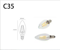 best led candles - best Dimmable E14 led filament bulb W W W AC120V V Candle Light Lamp C35 chandelier Indoor Lights pieces
