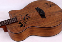Wholesale 40 inch inch wooden guitar guitar walnut Muya varnish clover hole