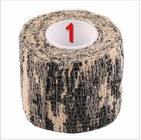 backpacking rifles - 2016Mix Color Self Adhesive Elastic Bandage Army Camo Wrap Rifle Shooting Hunting Camouflage Cohesive Tape m