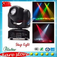 Wholesale Factory fast ship LED colors stage Light DMX Spot lamp W W Channels Mini LED Moving Head follow lighting for DJ Effect lights