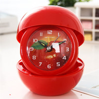 basketball clock - Exclusive Design Needle Clock Portable Cartoon Foldable Small Alarm Clock with Football Basketball Apple Shape F316