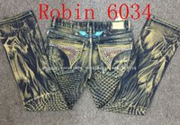Painting Medium - 2016 new arrival hot mens designer jeans men robin jeans famous brand robin jeans denim with wings american flag jeans plus size