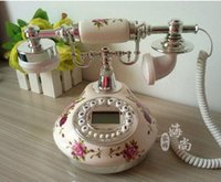 Wholesale Antique ceramics telephone home fashion fitted antique telephone gold Silver colors Caller ID