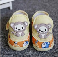 Wholesale Fashion Hot Baby Shoes Sweet Striped Antiskid Toddlers Shoes Cute Baby Boys First Walkers