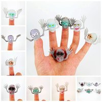 Wholesale 6pcs Novel PVC Ghost Finger Puppet For Telling Stories Halloween Funny Toy Action Figure Toy