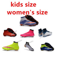 Wholesale children soccer shoes boys Superfly FG women s Soccer shoes High Ankle Soccer Boots Outdoor Soccer Cleats size