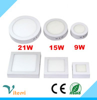 Wholesale Round Square LED Panel Light W W W AC110 V led ceiling lgiht indoor sitting room kitchen toilet downlight