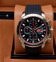 automatic stop watch - New style luxury watches men quartz stop watch miglia sport leather band golden wristwatch