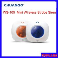 Wholesale Chuango WS mhz frequency Mini Wireless Strobe Warning Siren for Home Security Burglar home Alarm System