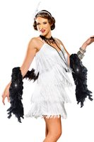 adult hollywood costumes - Brand New Adult Sexy White Hollywood Flapper Sexy Halloween Costume LC8926