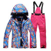 Wholesale Ski Jas Vrouwen Fashion Women Ski Jacket Pant Snowboard Female Windproof Waterproof Ski Suit campera de ski para mujer Set Hot