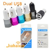 android apple ipad - Metal Dual USB Port Car Charger light up car adapter Universal use for Apple iPhone iPad iPod Samsung Galaxy Motorola Android Nokia HTC