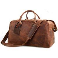 bg travel - High End Guaranteed Crazy Horse Leather Men Bags Tote bag Men s Travel Bags Duffel Bags Handbags BG