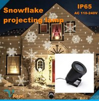 Wholesale Christmas snow outdoor IP65 LED Projection lamp AC110 V X1W RGB Christmas light snow Projection Lawn lamp