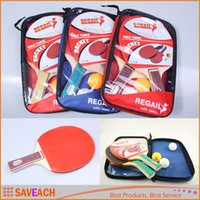 Wholesale Table Tennis Racket Set Double Face Shake hand Ping Pong Paddle with Retail Bag Training For Students Kids