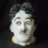 adult christmas humor - Latex mask celebrity American classic modern times humor star Chaplin overhead mask celebrity Halloween party Mask