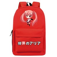 aria bags - New Brand Hot noctilucence Anime Backpack Unisex Simple Canvas Aria the Scarlet Ammo Schoolbag Fashion Travel bag Shoulders Bag No