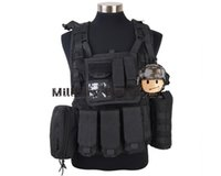 Wholesale Airsoft Military Paintball Army Hunting D Tactical Molle RRV Scout Vest High Quality Nylon Vest Tan Black OD Woodland Camo