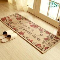 Wholesale Minimalist Style rectangle carpet mat corridor kitchen mat study room European architecture
