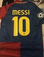 Wholesale Retro Jersey ROMA Olympics Stadium Final Messi Henry Xavi BAR player jersey with armband patch Good quality retro short Jerseys