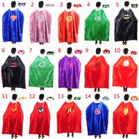 Wholesale 2016 cm Costume Adult Superhero Cape Batman Spiderman Supergirl Adult capes styles High Quality