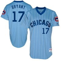 Wholesale Cheap New Men s Chicago Cubs Kris Bryant Majestic Light Blue Turn Back the Clock Throwback Authentic Team Baseball Jersey Mixed order