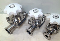 Wholesale DN51 Factory Stainless Steel Diaphragm Valve Sanitary Quick Diaphragm Diaphragm L
