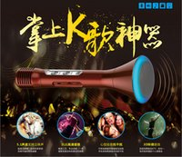 Wholesale 2016 K1 Wireless Microphone Bluetooth Micropone Karaoke KTV family outdoors for Mobile Phone PC Mini Karaoke Player