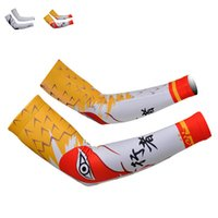 Wholesale Pair Outdoor Bike Cycling Sun Protective Arm Warmers Sport Sleeves Riding Gloves Arm Sleeves Cycling Gear YS0092 smileseller