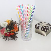 Wholesale Food Grade Paper Straws Drinking Straws Biodegradable Beautiful Paper Straws for Birthdays Weddings Party Passed FDA LFGB Certificate