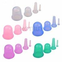 Wholesale Set of Body Anti Cellulite Silicone Vacuum Massage Eye Neck Face Back Massager Cupping Cup Colors