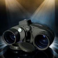 10x50 HD militar marina Prismáticos zoom telémetro Brújula ocular del telescopio impermeable Ejército nitrógeno verde USCAMEL