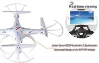 Wholesale 2015 Drones SYMA X5SW WIFI RC Drone Helicopter Quadcopter with Camera G Axis Real RC Helicopter Toy