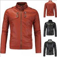 Wholesale new motorcycle jackets for men luxury leather jacket winter jackets men long sleeve plus size leather jacket black brown xl