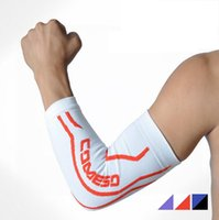 Wholesale 2016 New Support Basketball Shooting Honeycomb Sport Elbow Arm Warmers Pad High Elastic Gym Sports Long Arm Sleeve for Men