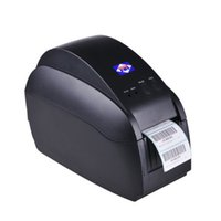 Wholesale Aibao BC T Mini mm Label Barcode Thermal Printer Black with Free Paper Roll mm s High speed Clear Printing Fast Ship From US